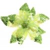 Motif Beaded with brooch Pin Flower Combo Lime